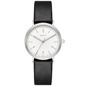 DKNY Ladies' Black Leather Strap Watch - Product number 5253802