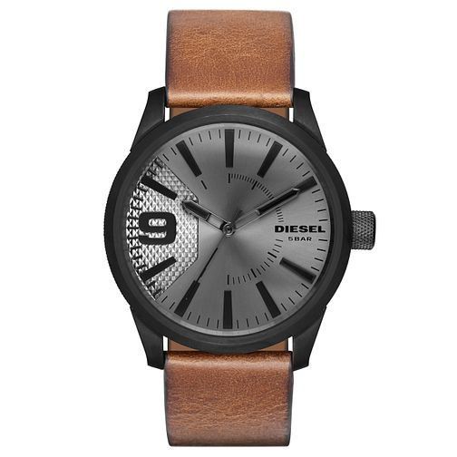 Diesel Rasp Men's Light Brown Leather Strap Watch - Product number 5253950