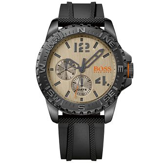 Boss Orange Reykjavik Men's Black Silicone Strap Watch - Product number 5254132