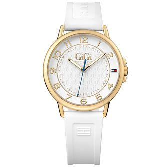 Tommy Hilfiger Gigi Ladies' White Rubber Strap Watch - Product number 5254345