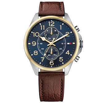 Tommy Hilfiger Gent's Brown Leather Strap Watch - Product number 5254442