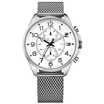 Tommy Hilfiger Gent's Silver Mesh Bracelet Watch - Product number 5254450