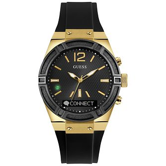 Guess Connect Black & Gold 41mm Smartwatch - Product number 5257417
