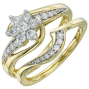 18ct Yellow Gold 1/2ct Diamond Perfect Fit Bridal Set - Product number 5258251