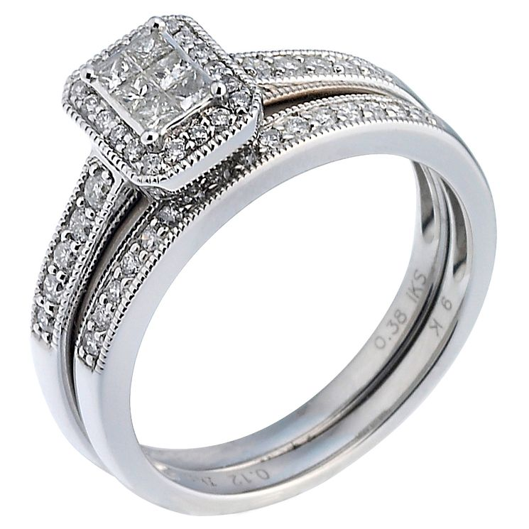 Platinum 1/2ct Diamond Perfect Fit Bridal Set - Product number 5259002