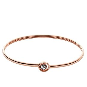 Fossil Rose Gold-Plated Stone Set Bangle - Product number 5266890