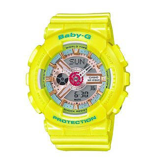Baby-G Candy Ladies' Yellow Resin Strap Watch - Product number 5267153