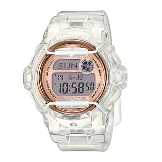Casio Baby-G Ladies' Clear Resin Strap Watch - Product number 5267188