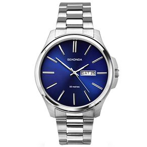 Sekonda Men's Blue Dial Stainless Steel Bracelet Watch - Product number 5267404