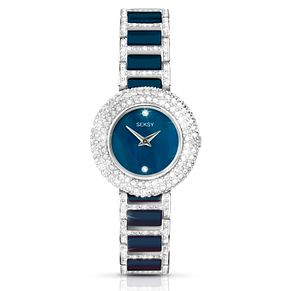 Seksy Blue Ceramic Bracelet Watch - Product number 5267501