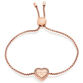 Michael Kors Rose Gold Tone Heart Bracelet - Product number 5268648