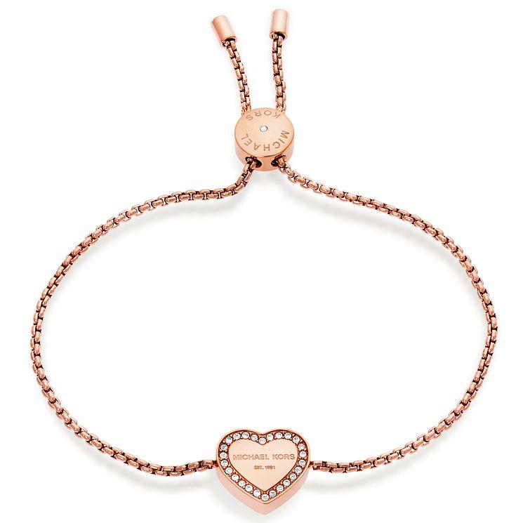 Michael Kors Rose Gold Tone Heart Bracelet