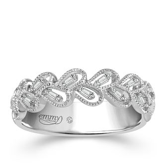 Emmy London 18ct White Gold 0.12ct Diamond Ring - Product number 5270537