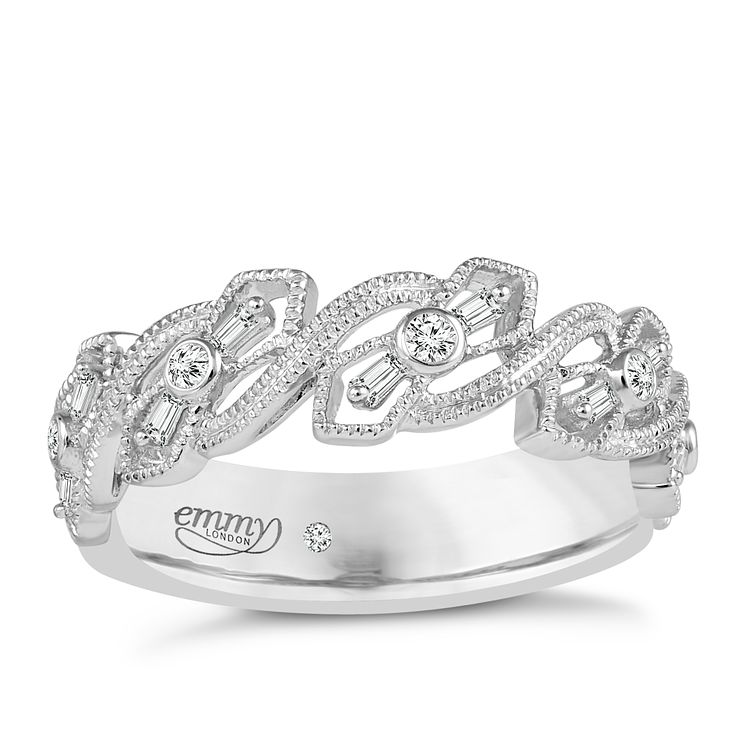 Emmy London Palladium 0.12 Carat Diamond Ring - Product number 5270677