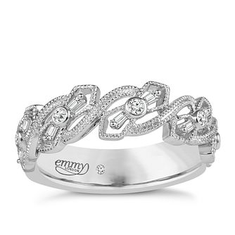 Emmy London 18ct White Gold 0.12 Carat Diamond Ring - Product number 5270944