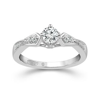 Emmy London Platinum 1/3ct Diamond Solitaire Ring - Product number 5272009