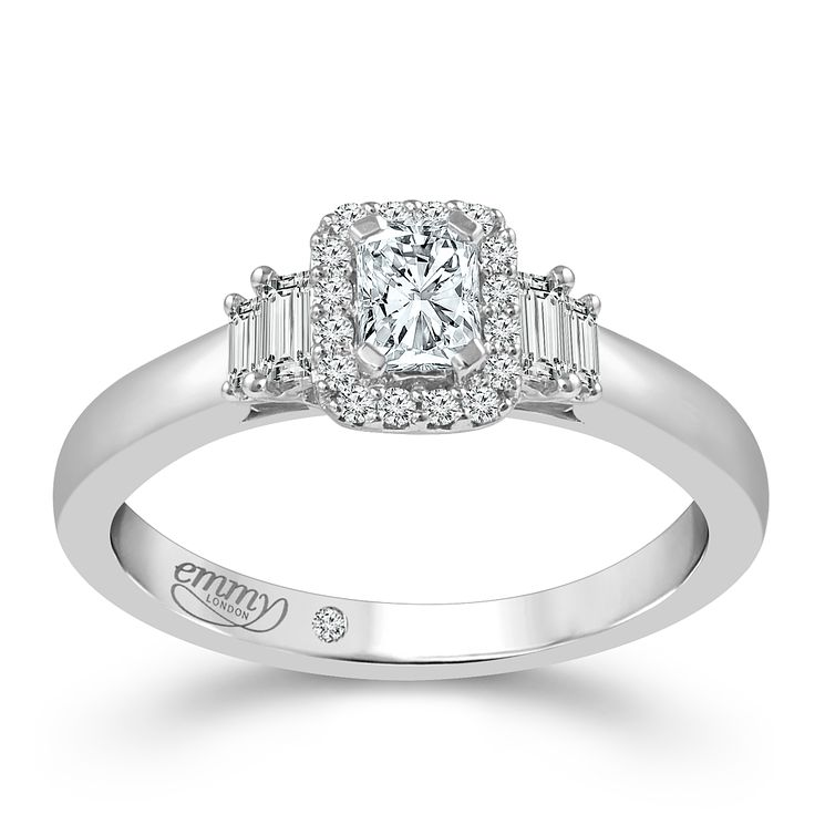 Emmy London Platinum 2/5ct Diamond Solitaire Ring - Product number 5272270