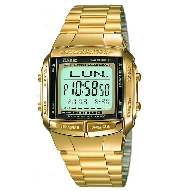 Casio Men's Gold Plated Bracelet Digital Watch - Product number 5274095