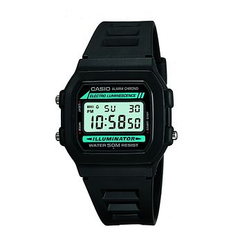 Casio Men's Black Resin Strap Digital Watch - Product number 5274281