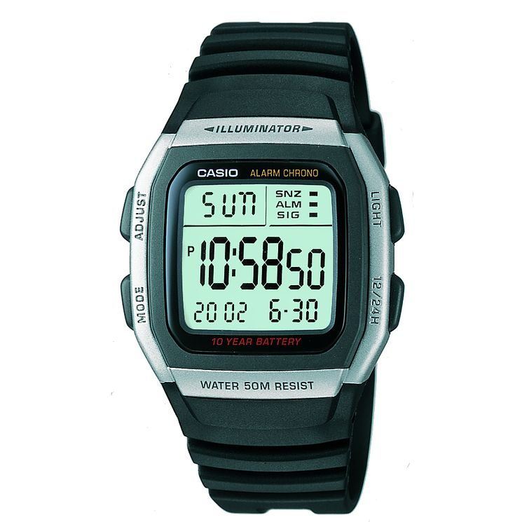 Casio Men's Blue Resin Strap Digital Watch - Product number 5274303
