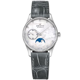 Zenith Elite Moonphase Ladies' Stainless Steel Strap Watch - Product number 5275466