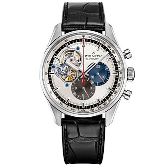 Zenith 1969 Men's Stainless Steel Skeleton Strap Watch - Product number 5275555