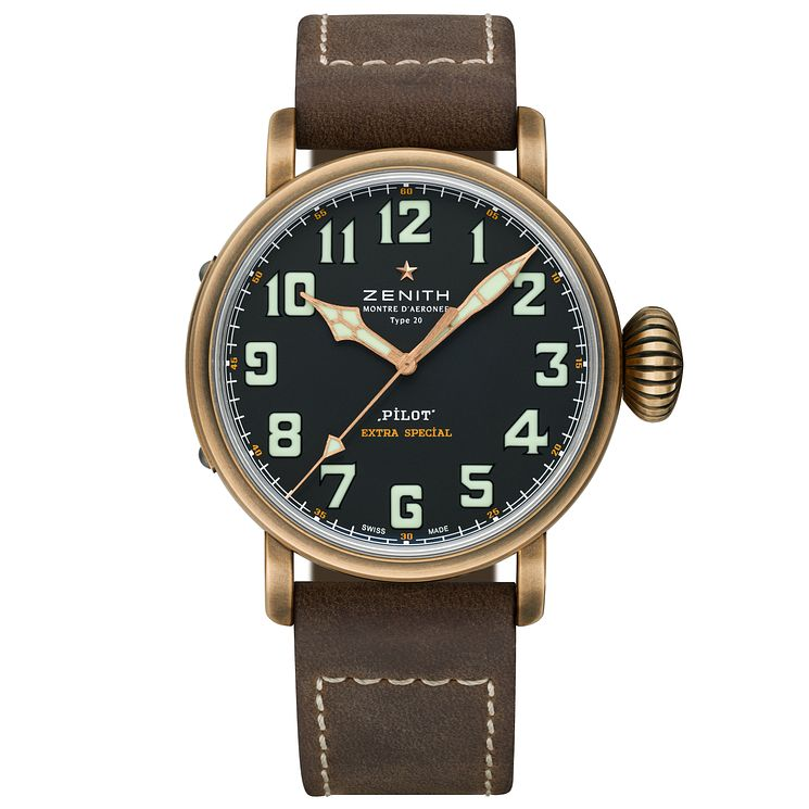 Zenith Heritage Pilot Men's Bronze Strap Watch - Product number 5275792