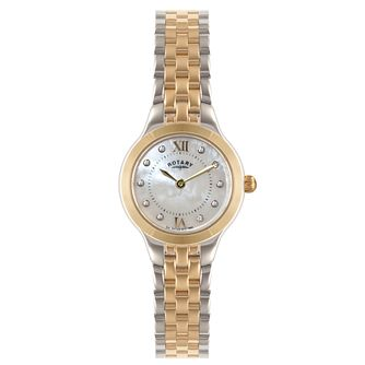 Rotary Ladies' Timepieces Two Tone Bracelet Watch - Product number 5276691