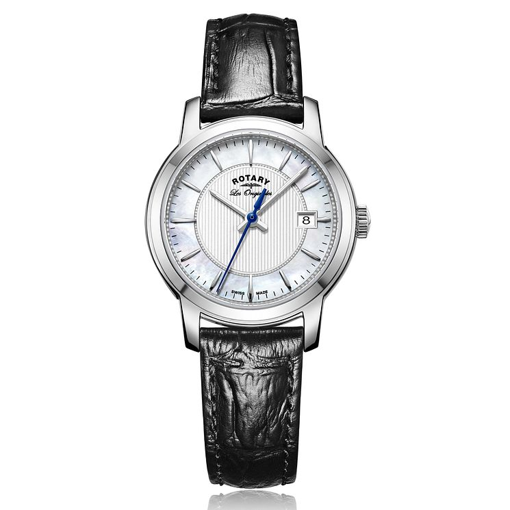 Rotary Ladies' Black Leather Strap Watch - Product number 5276837