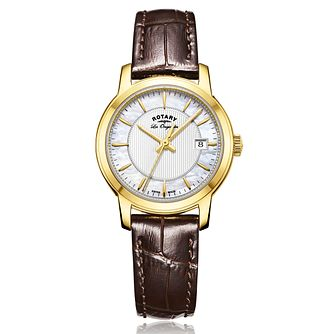 Rotary Ladies' Brown Leather Strap Watch - Product number 5276845
