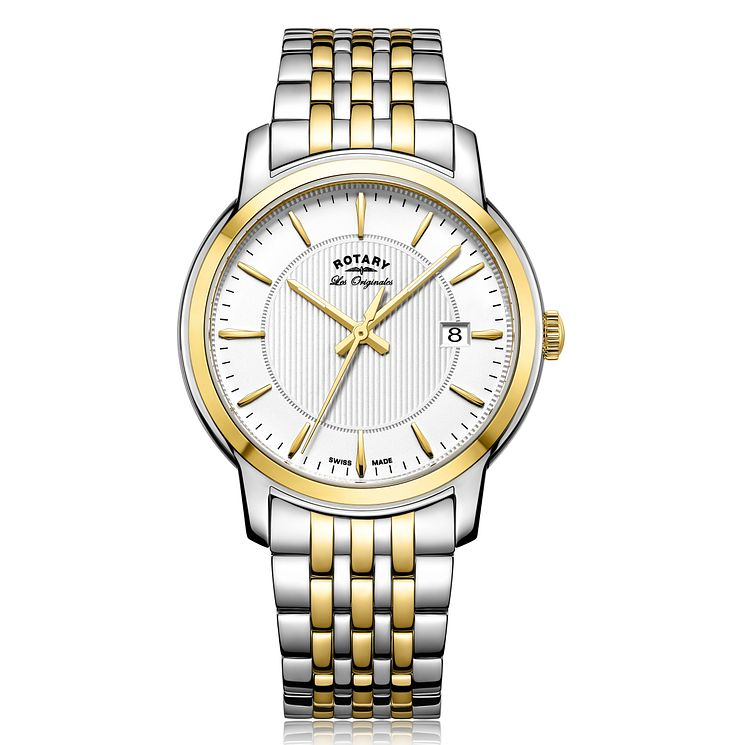 Rotary Gent's Two Tone Stainless Steel Bracelet Watch - Product number 5276942