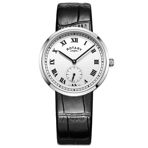 Rotary Gents Black Leather Strap Watch - Product number 5276977