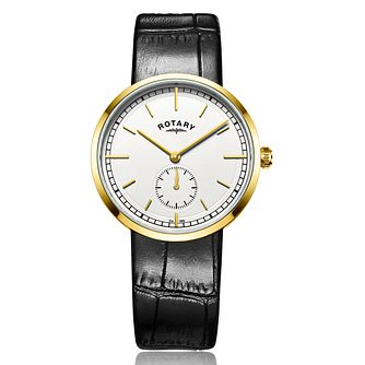 Rotary Gents Black Leather Strap Watch - Product number 5277035