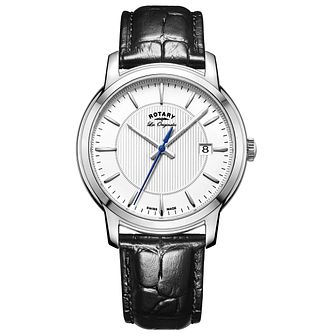 Rotary Men's Black Leather Strap - Product number 5277051