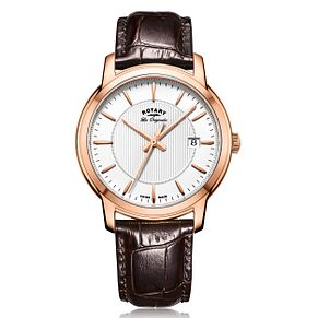 Rotary Men's Brown Leather Strap Watch - Product number 5277078