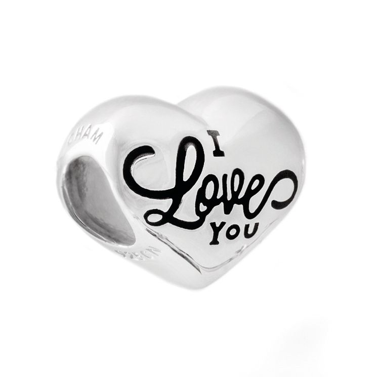 Chamilia Sterling Silver I Love You Heart Bead - Product number 5277647