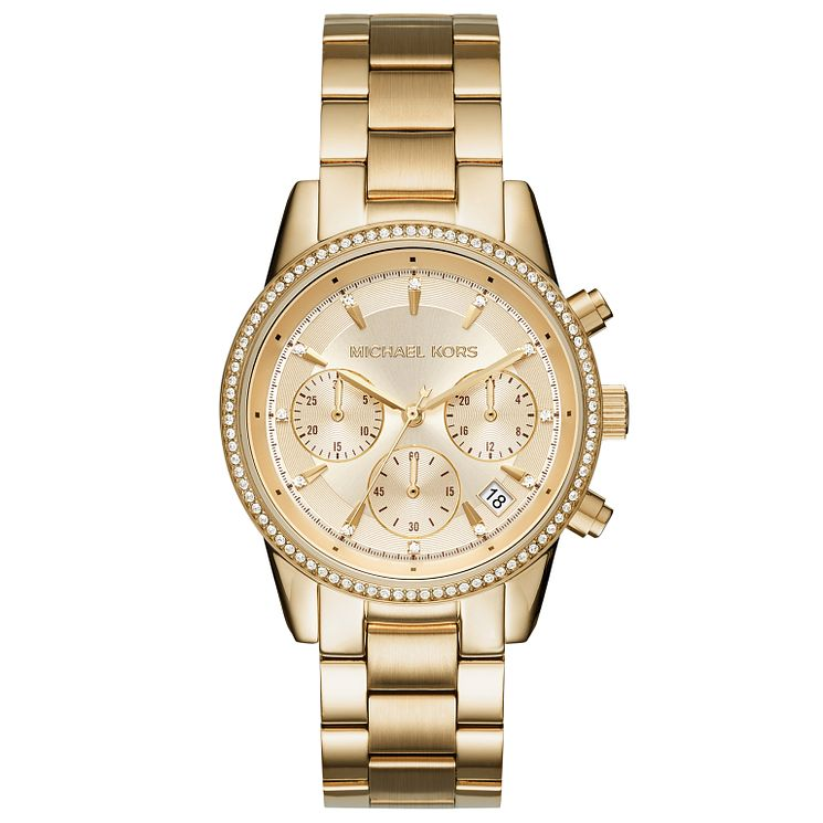 Michael Kors Ladies' Gold Tone Bracelet Watch - Product number 5278406