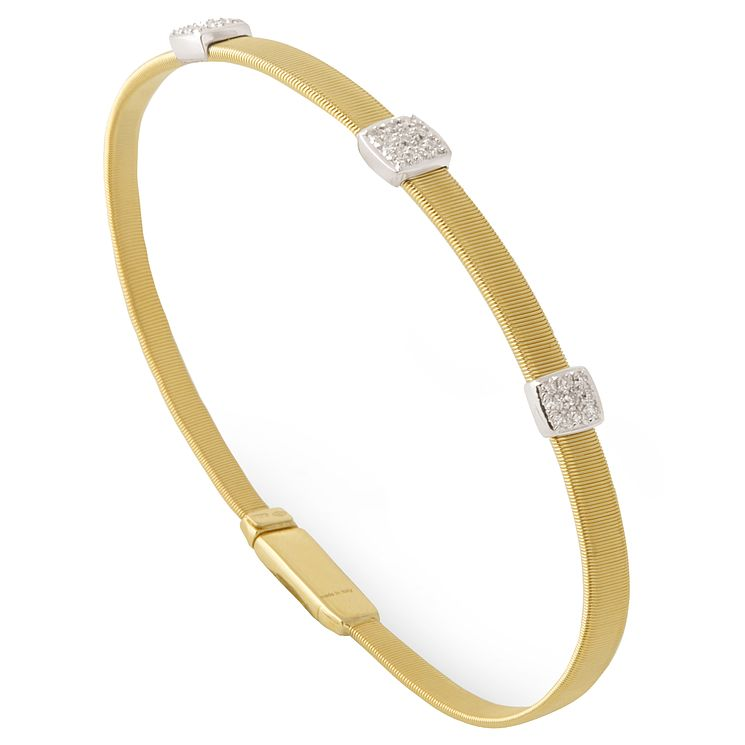 Marco Bicego 18ct Yellow Gold Masai 21pt Diamond Bangle - Product number 5279844