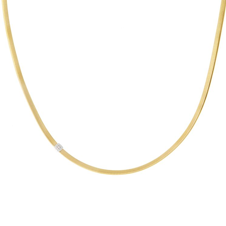 Marco Bicego 18ct Yellow Gold Masai 7pt Diamond Necklace - Product number 5279879