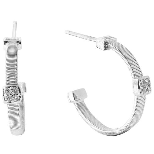 Marco Bicego 18ct White Gold Masai 0.06ct Diamond Earring - Product number 5279895
