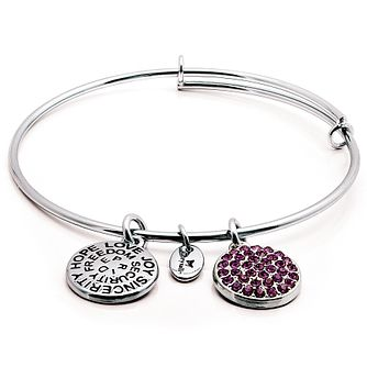 Chrysalis Rhodium plated Febuary Swarovski crystal Bangle - Product number 5282020