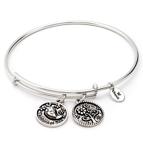 Chrysalis Rhodium plated Thinking of You Bangle - Product number 5282063