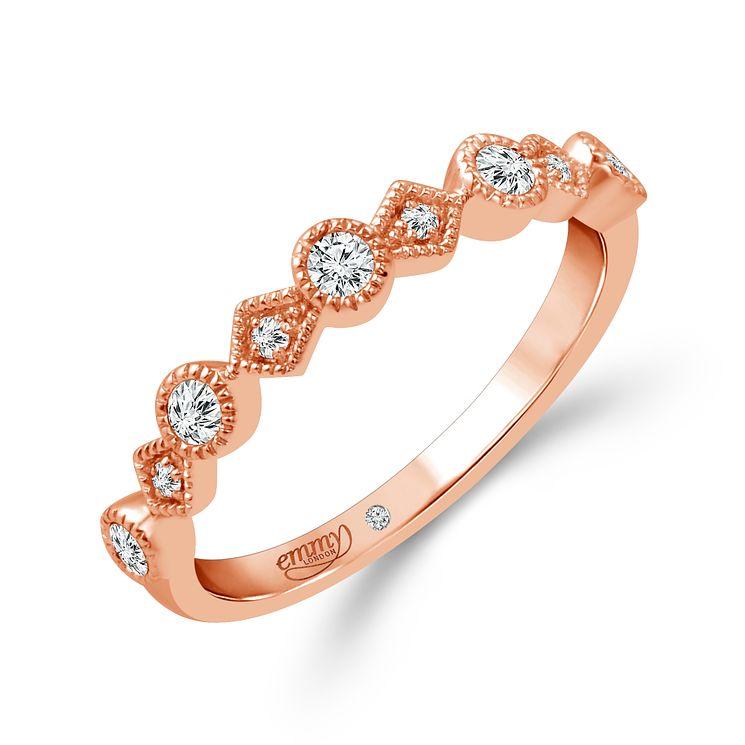 Emmy London 18ct Rose Gold 0 15 Carat Diamond Eternity Ring