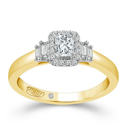 Emmy London 18ct Yellow Gold 2/5ct Diamond Solitaire Ring - Product number 5287537