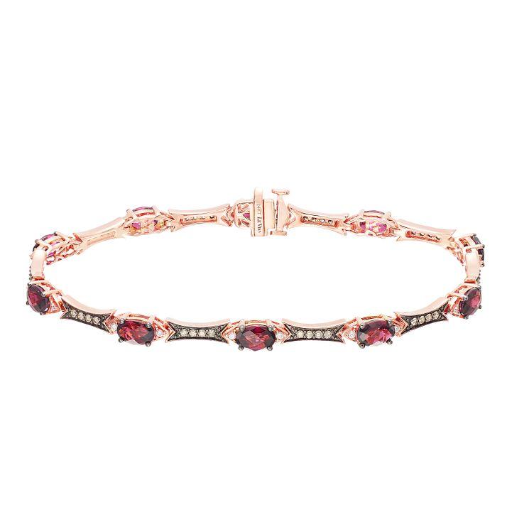 Le Vian 14ct Strawberry Gold Rhodolite Garnet Bracelet