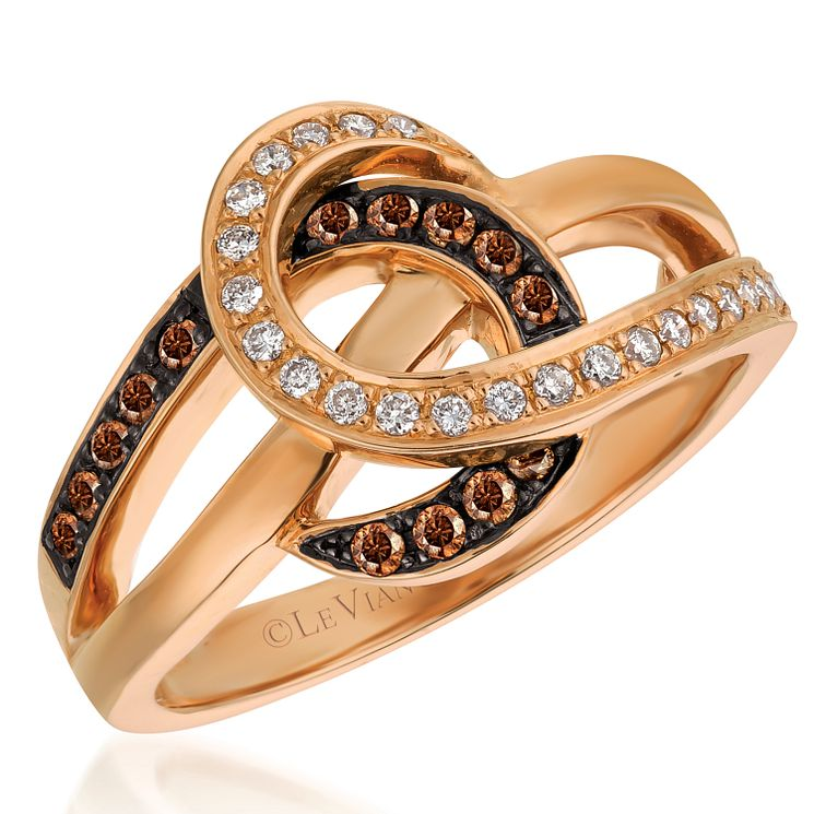 Le Vian 14ct Strawberry Gold Vanilla Chocolate Diamond Ring - Product number 5289165