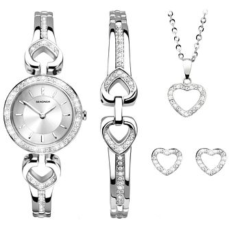 Sekonda Ladies' Watch Bracelet Earring & Pendant Set - Product number 5291690