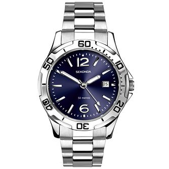 Sekonda Men's Blue Dial Stainless Steel Bracelet Watch - Product number 5291763