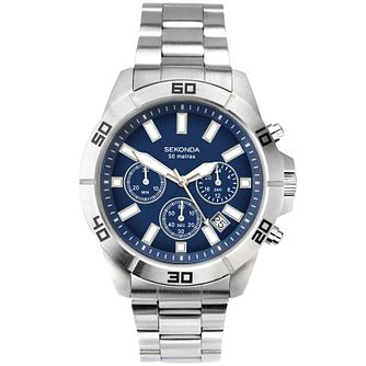 Sekonda Men's Chronograph Stainless Steel Bracelet Watch - Product number 5291771