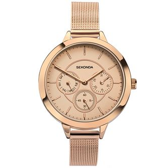 Sekonda Editions Ladies' Gold-Plated Mesh Bracelet Watch - Product number 5291844
